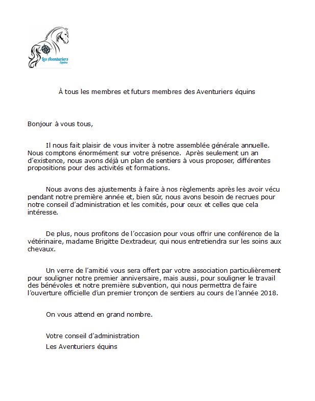 Lettre invitation PNG