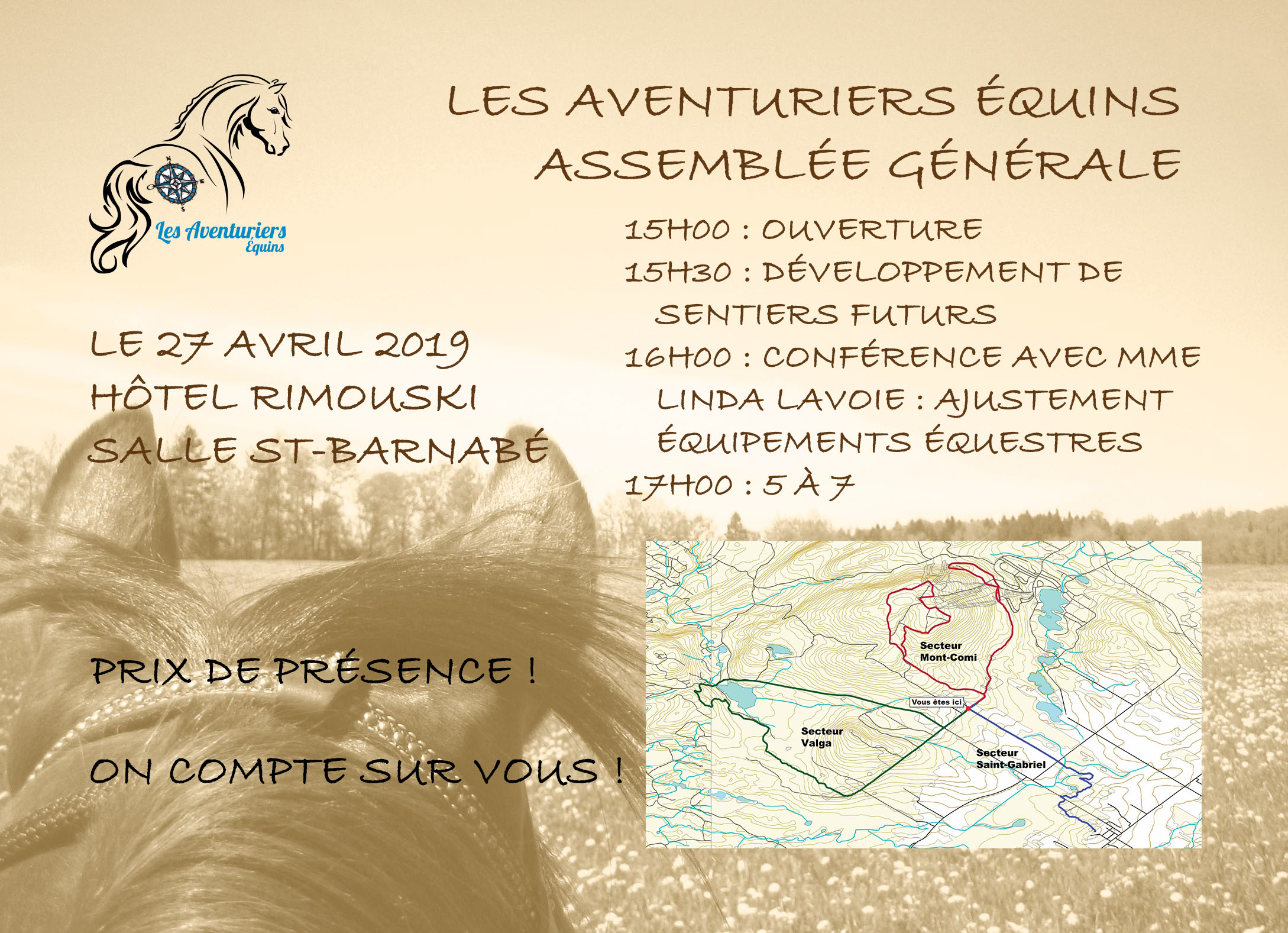 Affiche Assemblée générale et carte